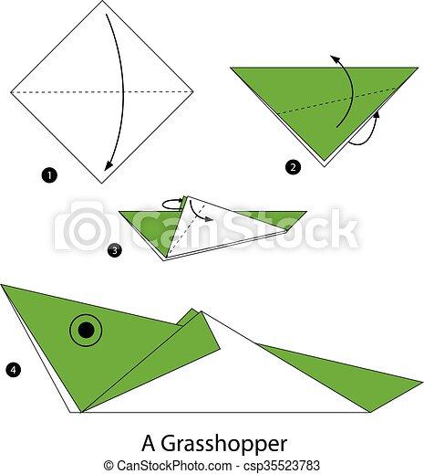 Wallpaper paper, grasshopper, origami images for desktop, section ... | 470x418