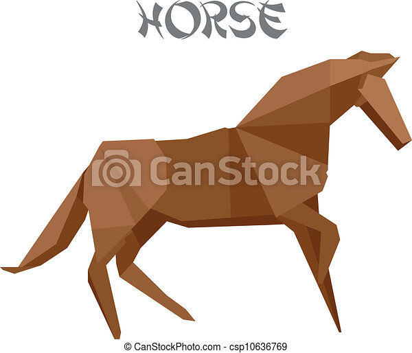 Illustration Of An Origami Horse