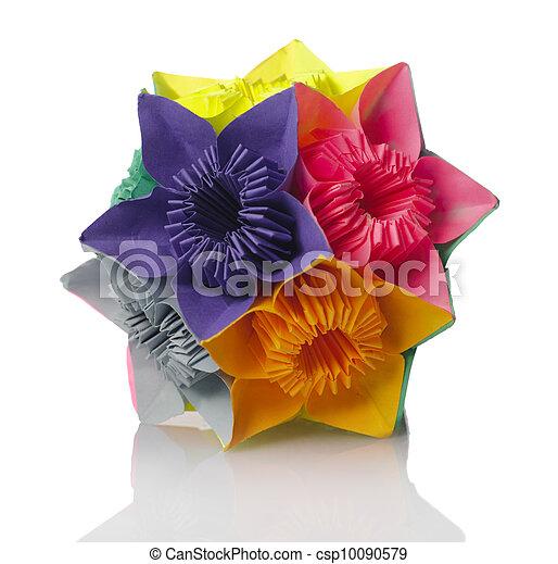 Origami kusudama flower colorfull origami kusudama from picture origami kusudama flower csp10090579 mightylinksfo Gallery