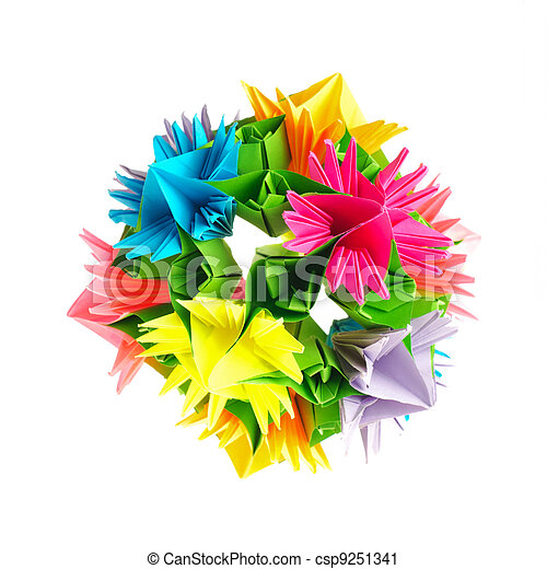 Origami kusudama flower colorfull origami kusudama from stock origami kusudama flower csp9251341 mightylinksfo Gallery