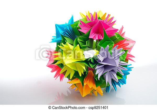 Origami Kusudama Flower Colorfull Origami Kusudama From Rainbow