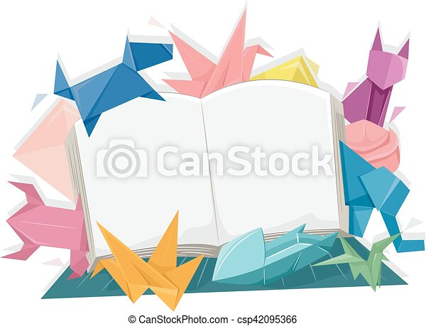 Origami Livre Animaux Ouvert
