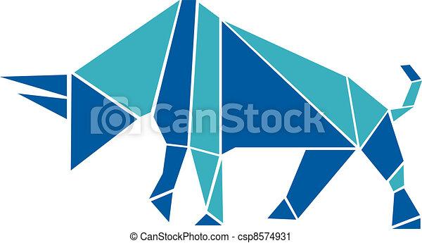 origami, mód, bika - csp8574931