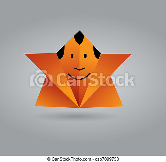 Origami Man This Image Is A Vector Illustration And Can Be Scaled