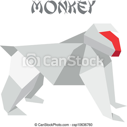 Origami Paper A Monkey (face) Stock Photo, Picture And Royalty Free Image.  Image 36843903. | 451x450
