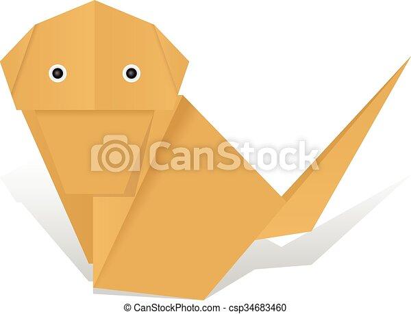 Origami Monkey! - Origami for fun | 349x450