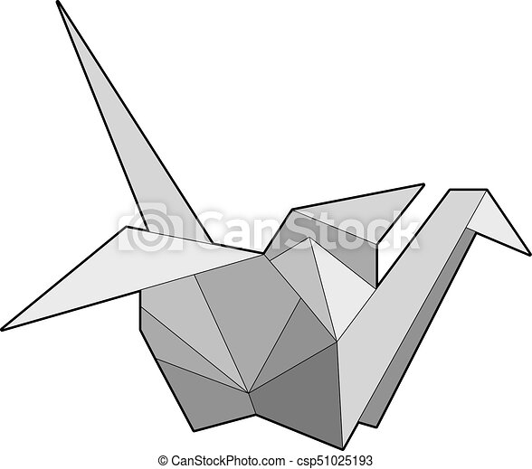 Origami Paper Crane An Illustration Of This