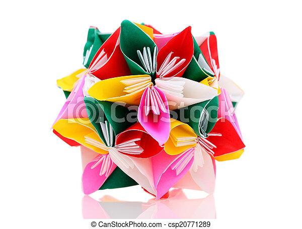 origami paper flower - csp20771289