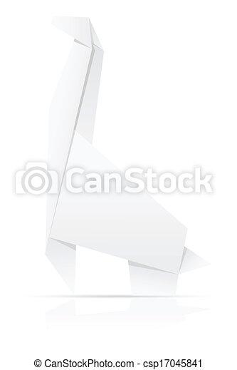 Origami Paper Giraffe Vector Illustration