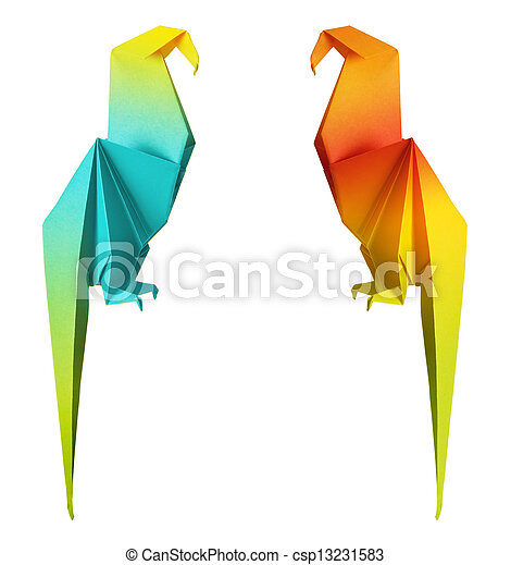 origami parrot - csp13231583