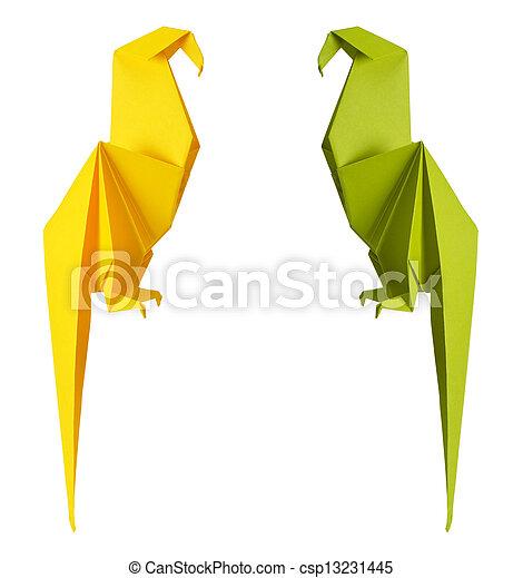origami parrot - csp13231445