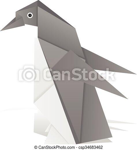 Origami Penguin Poster | JUNIQE | 470x427