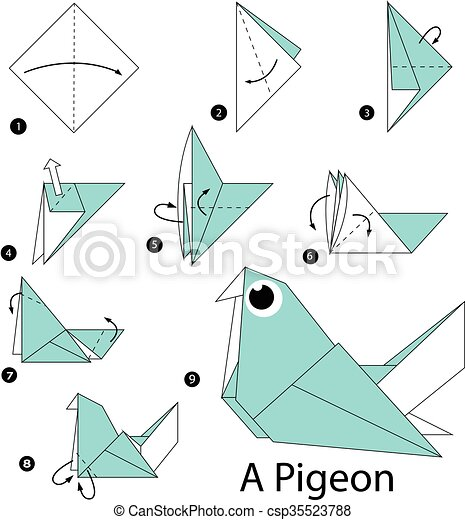 origami pigeon marca c243mo paso pigeon origami