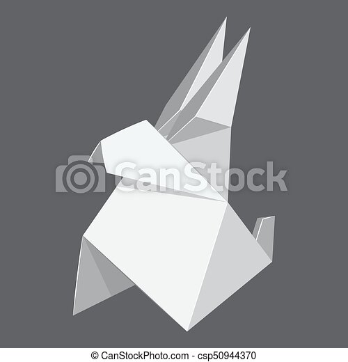 Origami Rabbit Concept Background Realistic Style Origami Rabbit