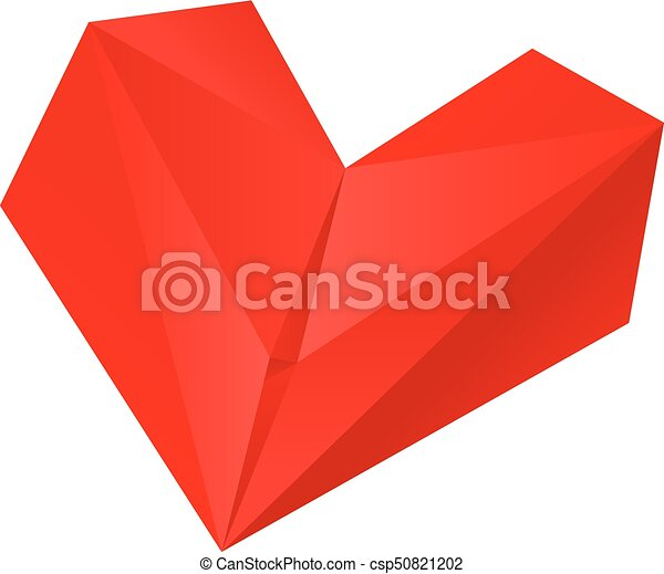 Origami Red Heart Folding Paper Use It In All Your Designs Red