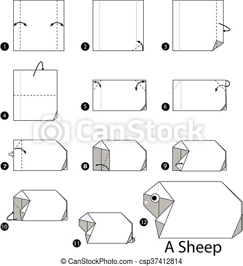 Origami Sheep Faire Comment Etape Instructions