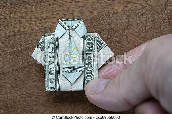 Dollar Origami Shirt & Tie Tutorial - How to fold a dollar bill in ... | 319x450