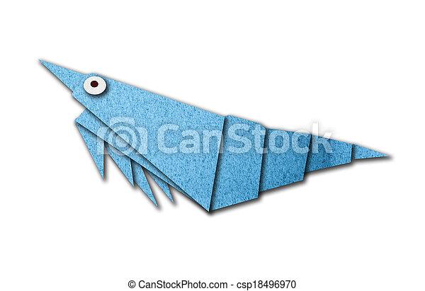 Origami Shrimp Made Of Paper
