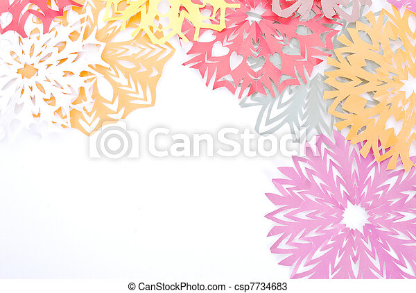 Origami Snowflakes On The White Background Stock Photos Search
