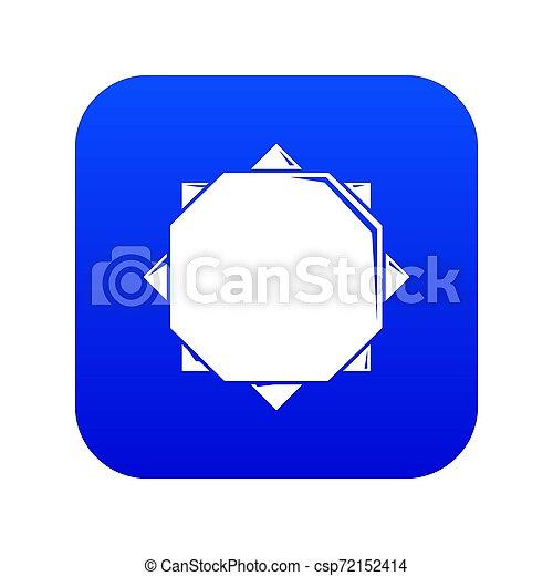 Origami sun icon blue - csp72152414