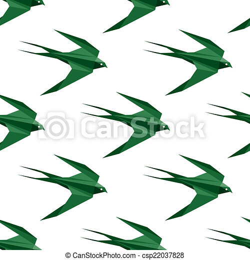 Origami swallows Royalty Free Vector Image - VectorStock | 470x450