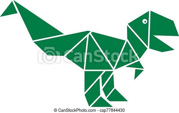 T-Rex Origami Dinosaurier Holz Anstecknadel | Etsy | 289x450