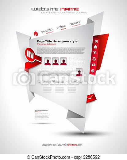 Origami Website - Elegant Design for Business - csp13286592
