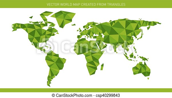 Origami world map polygonal world map using different hues eps origami world map csp40299843 gumiabroncs Choice Image