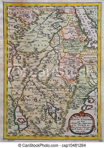 Original Antique East Africa Map Xviith Century Copper Engraved
