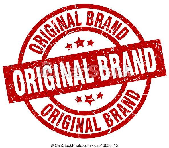 best service ff261 1ba67 Original Brand Round Red Grunge Stamp