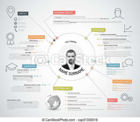 Original Cv Resume Template Vector Original Minimalist Cv