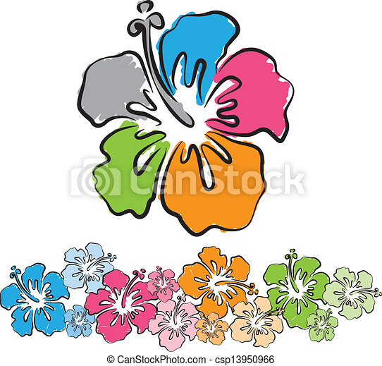 Original: hawaiian flowers  - csp13950966