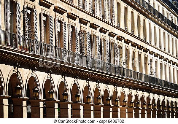 Original historic Parisian architecture - csp16406782