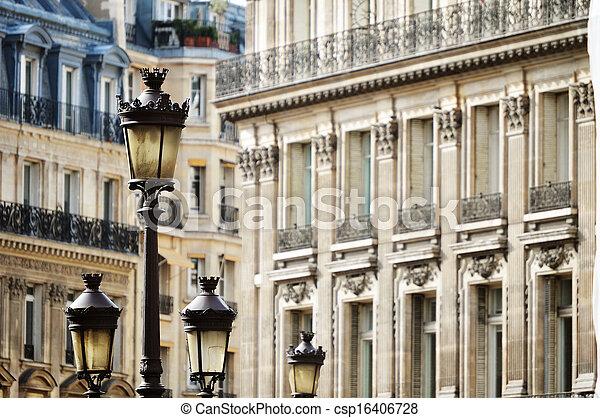 Original historic Parisian architecture - csp16406728