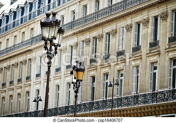 Original historic Parisian architecture - csp16406707