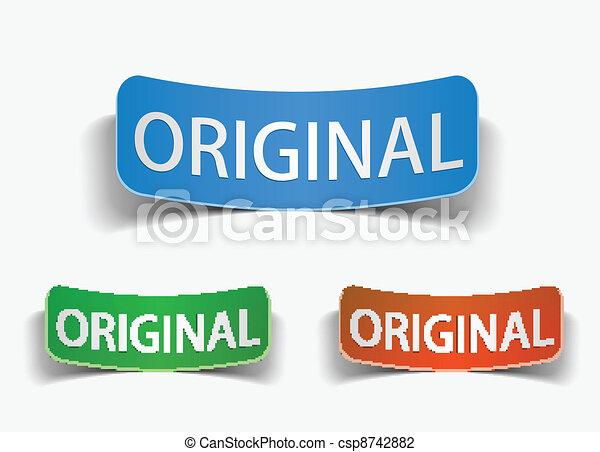 original product promotion vector label  - csp8742882