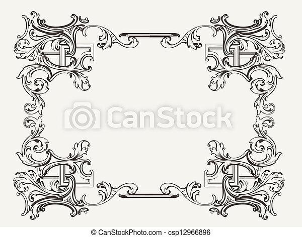 Original Renaissance Ornate Frame  - csp12966896