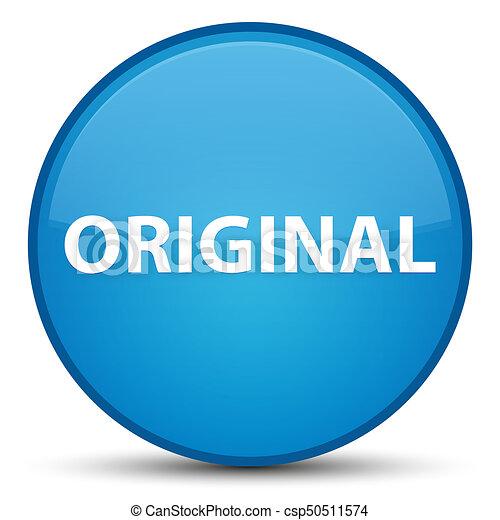 Original special cyan blue round button - csp50511574