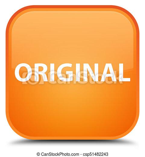 Original special orange square button - csp51482243
