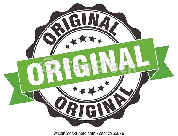 original stamp. sign. seal - csp42965676