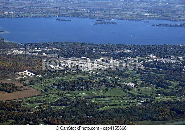 Campo de golf de Orillia aérea - csp41556661
