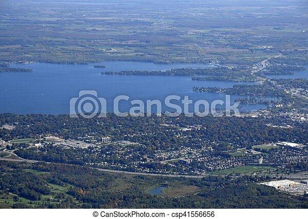 Orillia Ontario aerial - csp41556656