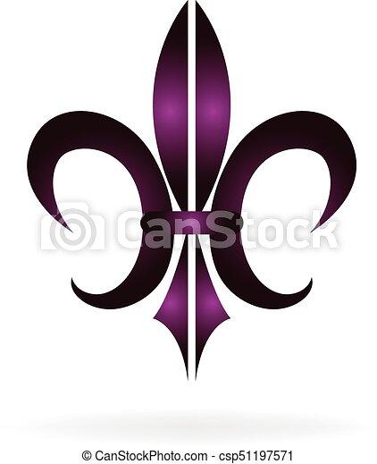 Orleans Flor Símbolo De Fleur Lis Nuevo Logotipo
