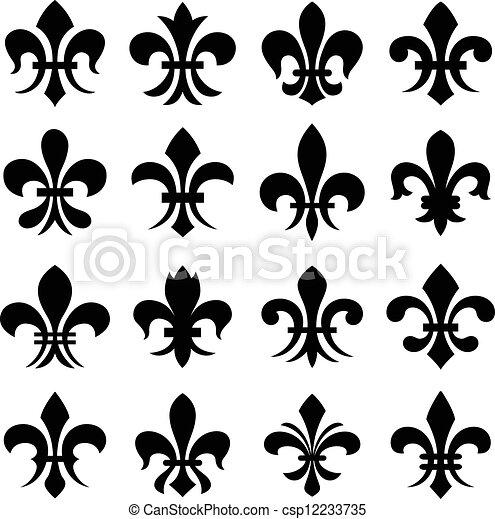 Fleur de lis orleans símbolo - csp12233735