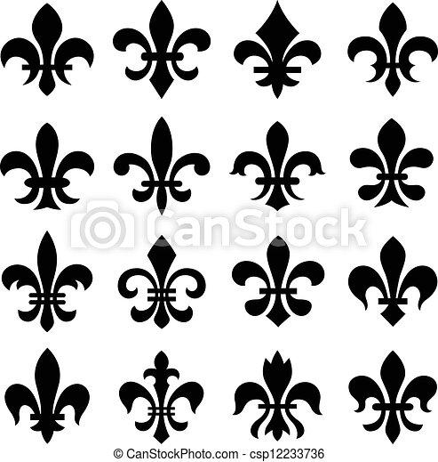 Fleur de lis orleans símbolo - csp12233736