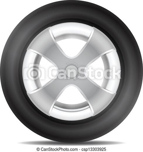 orlo, pneumatico, alluminio, isolato - csp13303925