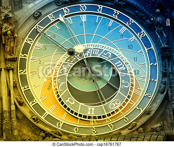 Orloj astronomical clock in Prague in Czech Republic - csp16761767