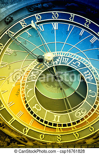 Orloj astronomical clock in Prague in Czech Republic - csp16761828