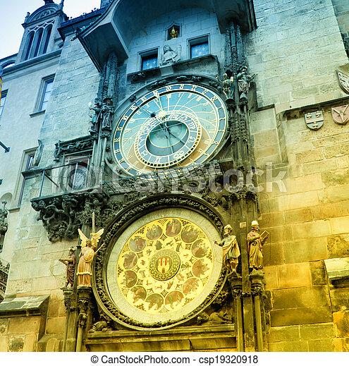 Orloj astronomical clock in Prague - csp19320918
