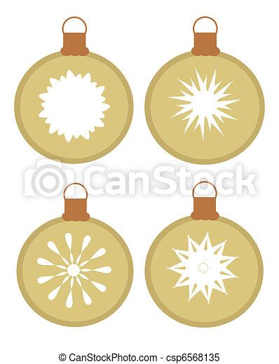 ornamenst, weihnachten - csp6568135